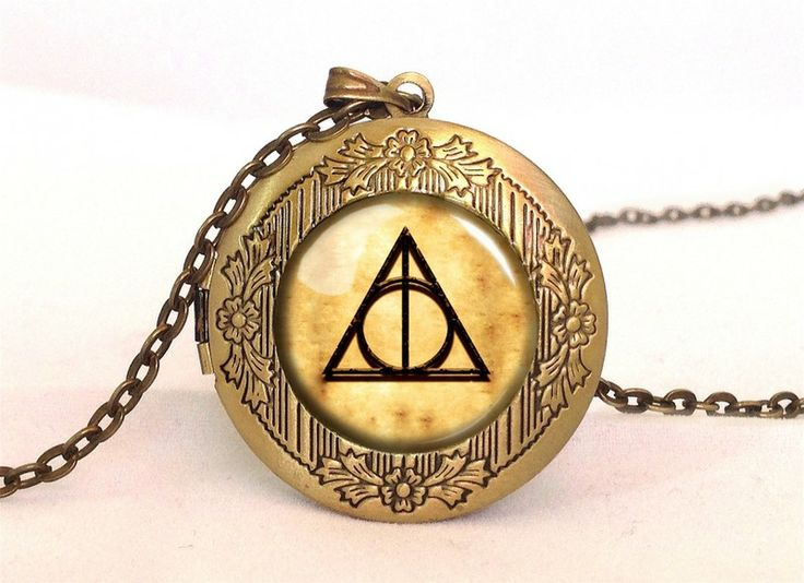 Harry Potter DEATHLY HALLOWS Locket, 0357LPB from EgginEgg by DaWanda.com