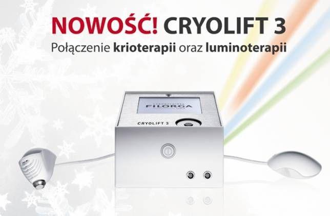 Cryolift 3 opracowany przez francuskie Laboratorium Filorga doskonale wpisuje się w NAJNOWSZY TREND KOSMETYKI MEDYCZNEJ. Cryolitf 3 to unikalny zabieg o kompleksowym działaniu odmładzającym. Zapewnia synergiczny o optymalny efekt działania KRIOPLASTYKI w połączeniu z biostymulującym działaniem ŚWIATŁA LED.