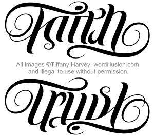 Faith & Trust Ambigram..., totally getting this as a tattoo (:
