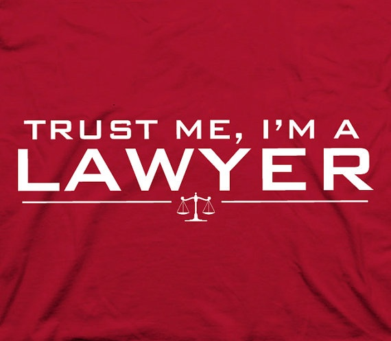 Trust me I'm a lawyer  humor geeky nerdy law by TheShirtDudes, $14.95