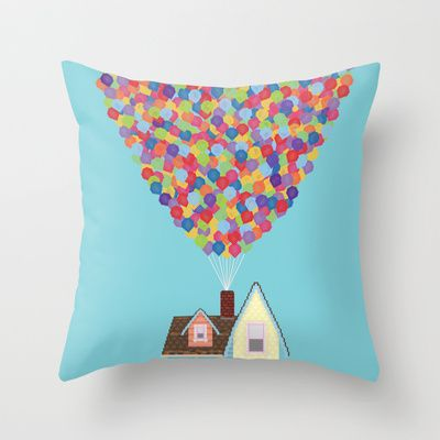 tons of cute pillows on this site. Up Throw Pillow by Lovemi - $20.00