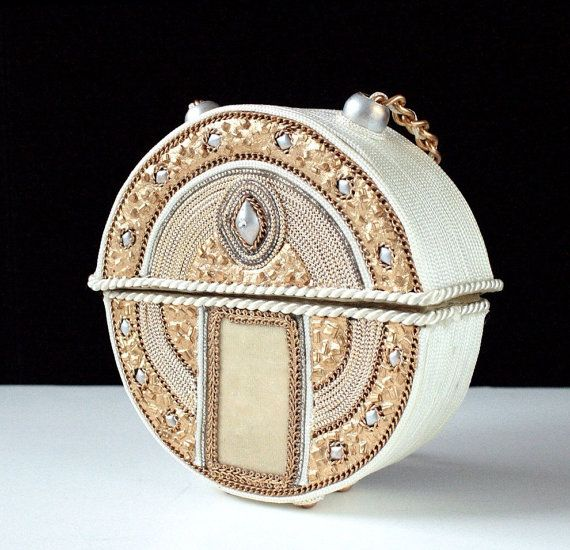 Rare ROUND Mary Frances Purse Early Mary Frances by RedSableStudio