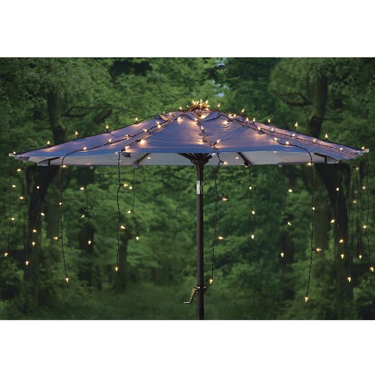 Outdoor Patio Umbrella Lights: Waterfall Umbrella Canopy Light Cover