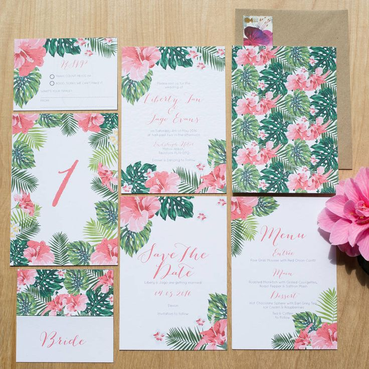 Tropical Hawaiian Wedding Invitation 72 best Sincerely