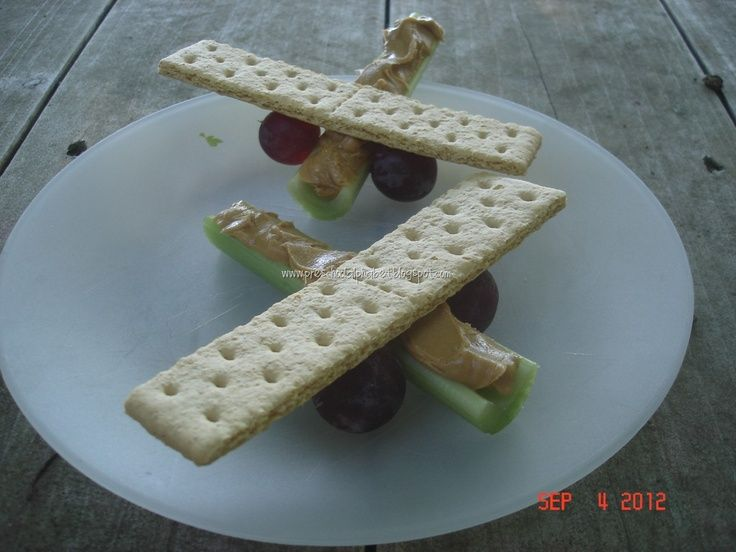 Healthy airplane shaped snack for kids: Perfect for a fun after-school snack, transportation party, airplane birthday celebration, and more! >>>>HAVE FRIENDS IN ARIZONA? Tell them we'd love them to visit our restaurant, the LEFT SEAT WEST, an AVIATION THEMED RESTAURANT in Glendale, Arizona!  Check out our Facebook page! http://www.facebook.com/pages/Left-Seat-West-Restaurant/192309664138462