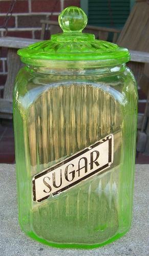 Vintage Depression Sugar Kitchen Canister