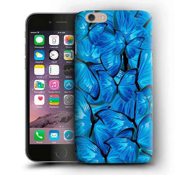 Blue Butterflies iPhone Case For iPhone 6 Plus Case,iPhone 6 Case,iPhone 5/5s Case,iPhone 5C Case,iPhone 4s Case,iPod Touch 5 Case Butterfly by CaseLoco on Etsy
