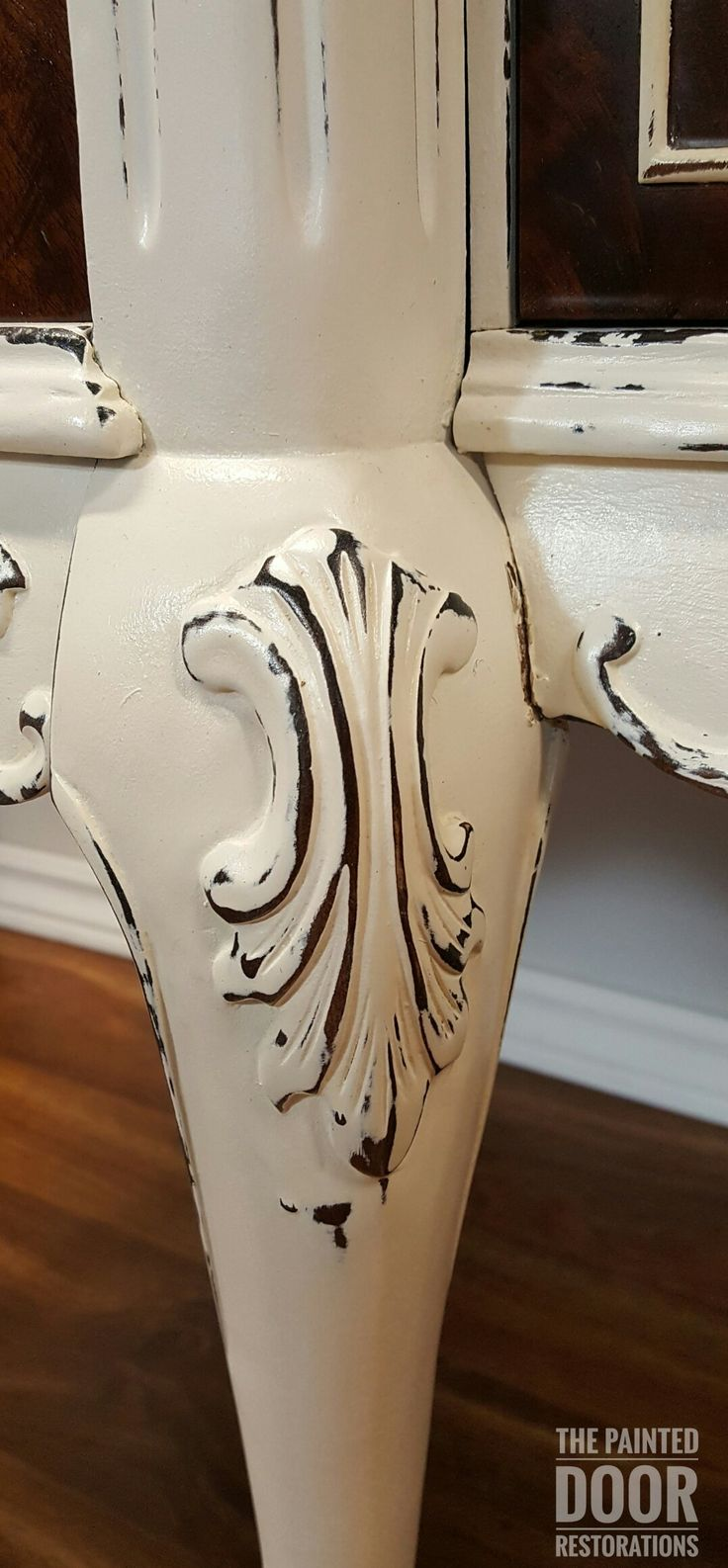 Antique Claw Foot Sideboard  www.thepainteddoorrestorations.com  www.facebook.com/thepainteddoorrestorations  www.instagram.com/thepainteddoorrestorations  Pinterest: The Painted Door Restorations  #paintedfurniture #cottagepaint #cottagewhite #distressed #distressed  #sideboard #sideboards #sideserver #sideservers #diningroom #diningroomdecor #diningroomfurniture #clawfoot #burl #burledwood #burled #