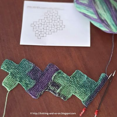 Modular Knitting Patterns Free : 84 Best images about patchwork knitting entrelac on Pinterest Free pattern,...