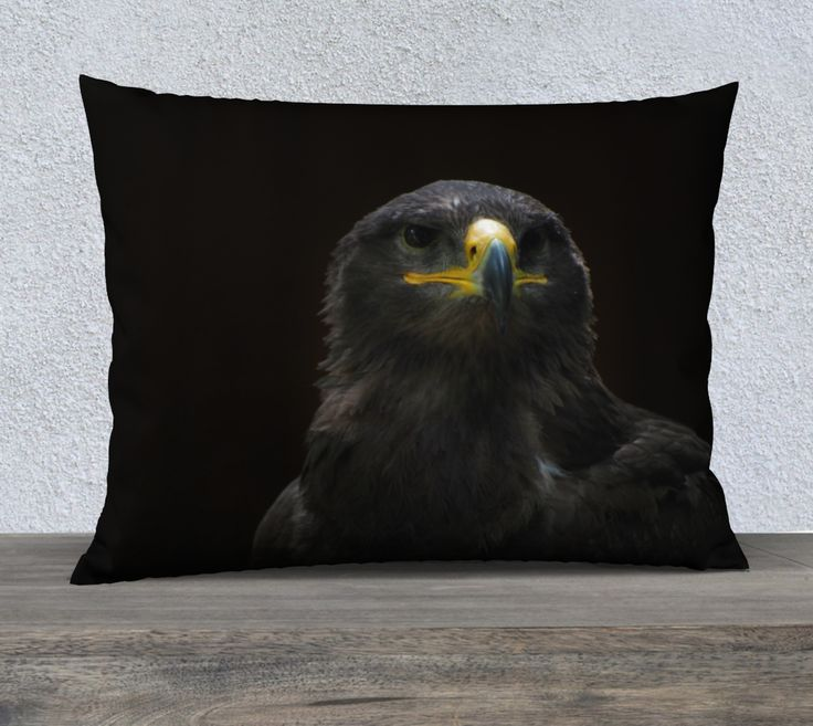 "26""+x+20""+pillow+""Steppe+Eagle""+by+Mixed+Imagery"