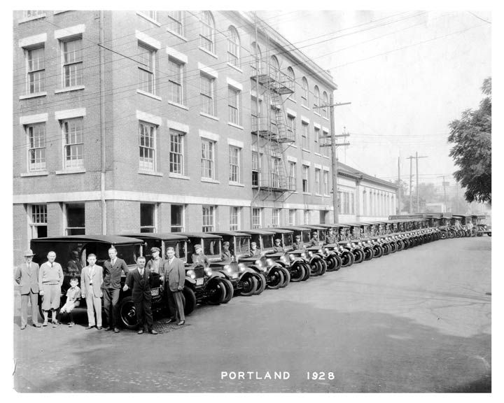 1927 Ford Model T United Parcel Service UPS Portland Fleet Photo c8870