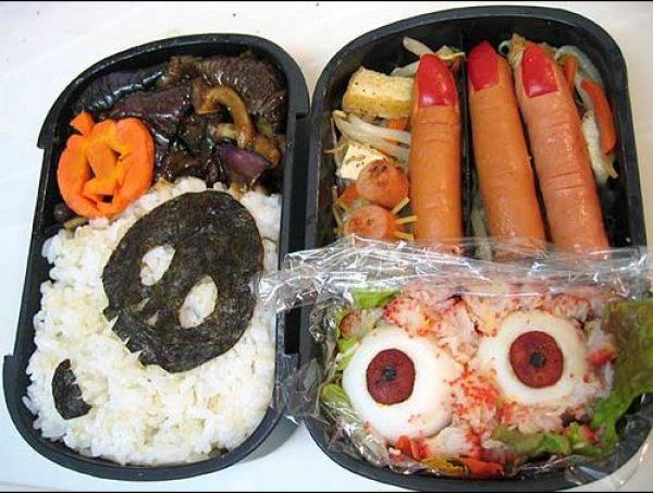 Japanese Character Bento Boxes That Make You (Quite) Lose Your Appetite #bento #horrorbento #weirdbento #funny #japan