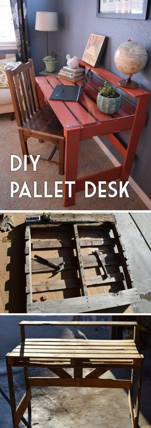 Check out the tutorial how to build a DIY pallet desk @istandarddesign