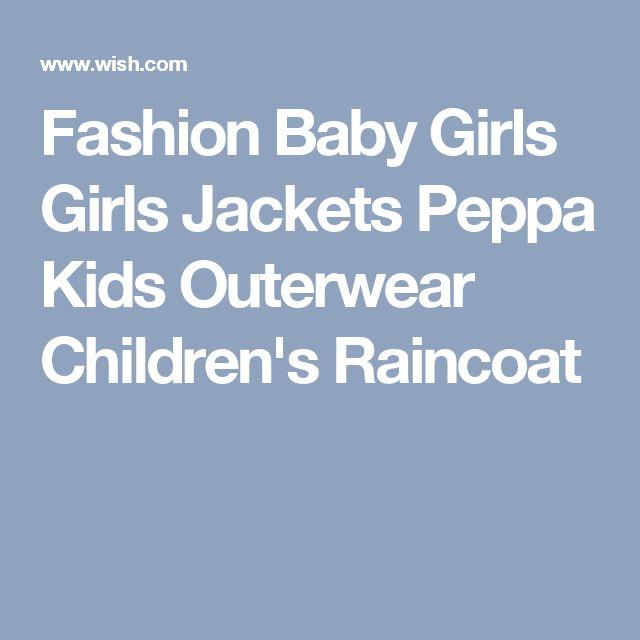 Fashion Baby Girls Girls Jackets Peppa Kids Outerwear Children's Raincoat