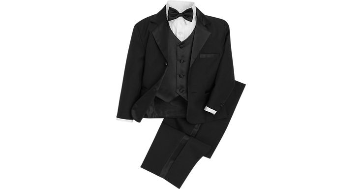 Check this out! Pronto Uomo Couture Black Toddler's Tuxedo - Tuxedos from MensWearhouse. #MensWearhouse