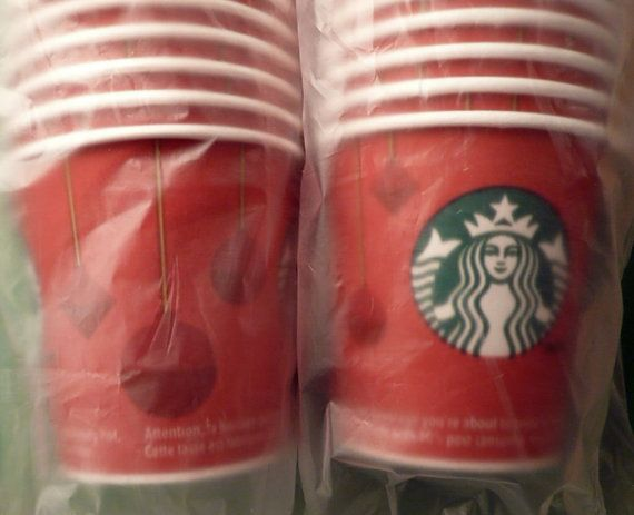 100 Starbucks Cups Christmas Decorated Starbucks by Tasteliberty, $30.00