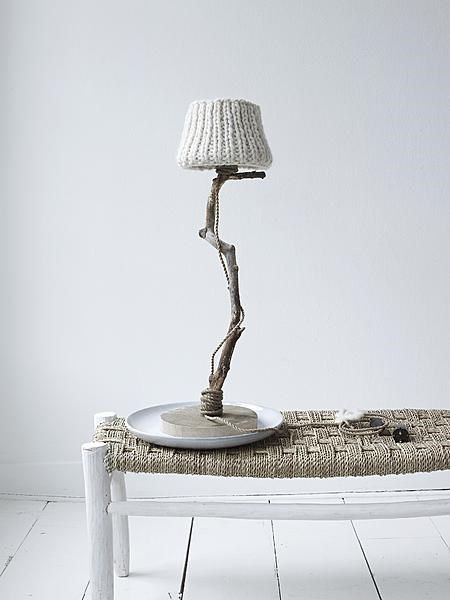 vtwonen Gebreide Lamp - Eiken :: Love this lamp base, even tho' cord shows!  Might chg shade, however...