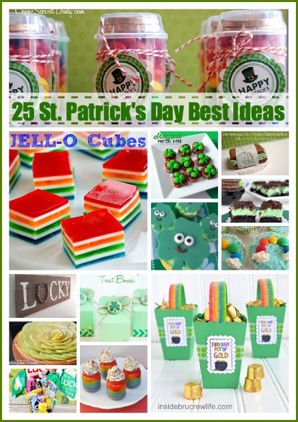 25 St. Patrick's Day Lucky Ideas... SO many fun crafts and recipes! #St_Patricks_Day the36thavenue.com