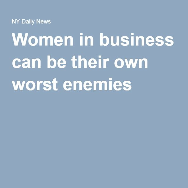 Women in business can be their own worst enemies - Nicole McMackin