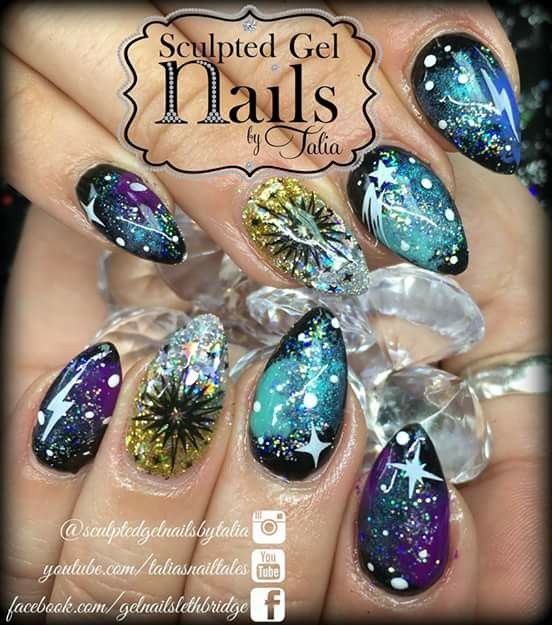 Sculpted gel nails by Talia