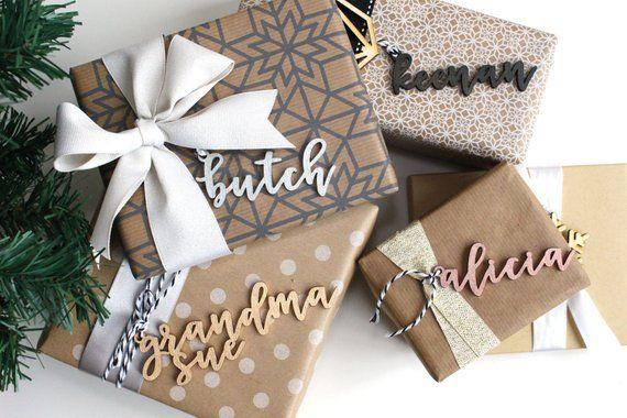 Nema Christmas 2020 Painted Modern Custom Name Gift Tags Mini Christmas Ornament