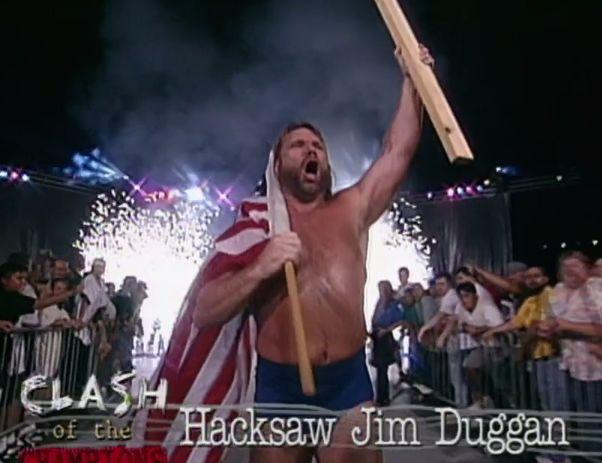 WCW Clash of the Champions 33 1996 REVIEW - Hacksaw Jim Duggan battled V.K Wallstreet