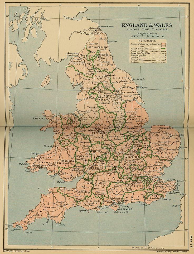 Tudor England Britain MapTudorWalesUnited 25 best