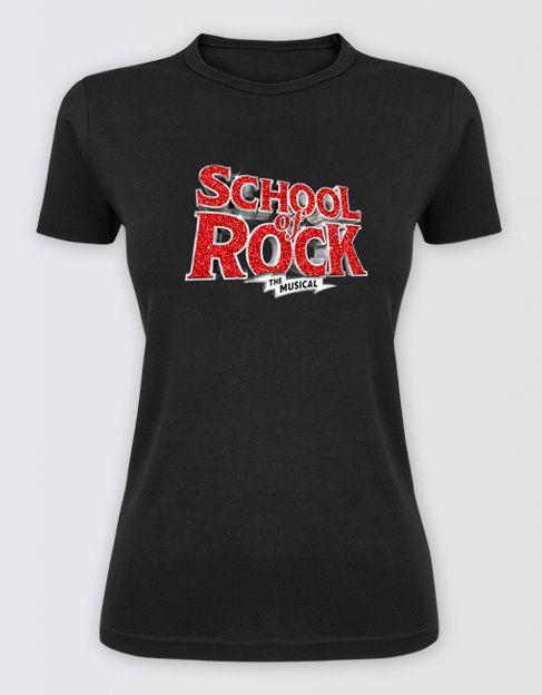 School of Rock Merchandise | Ladies Glitter Logo T-shirt