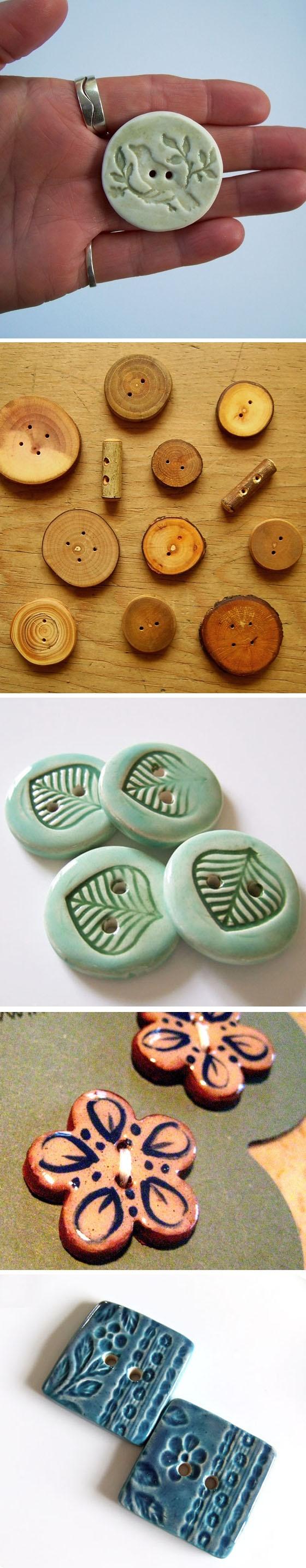 Handmade Buttons | One Sugar Please