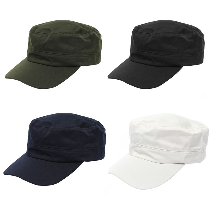 Best Promotion Unisex Adjustable Classic Army Plain Vintage Hat Cadet Military Outdoor Sports Running Cap Men Women