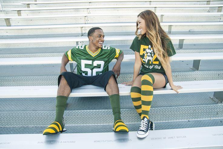 Green and Gold Slippers + Socks #Packers #GB #NFL #NHL #NBA #NCAA #slipper #sock #Football #Fan