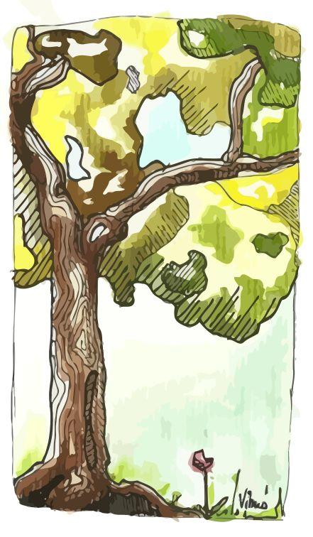 Aquarell tree