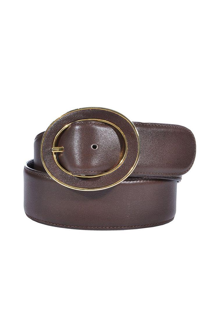 #Valentino | Vintage #Gürtel mit überzogener Lederschnalle, Gr. 75/M | Valentino #Belt | mymint-shop.com | Ihr Online Shop für #Secondhand / #Vintage #Designerkleidung & #Accessoires bis zu -90% vom Neupreis das ganze Jahr #mymint