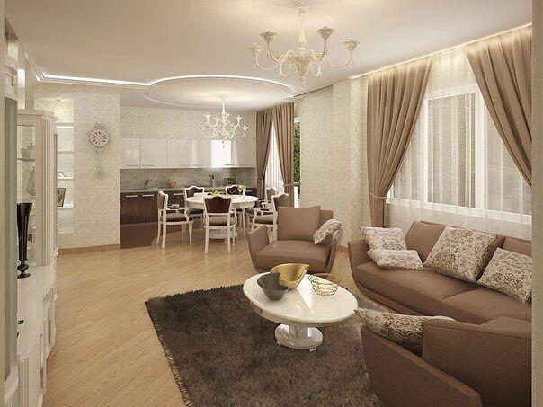 786 отметок «Нравится», 2 комментариев — Интерьер и декор 🏡 (@interior_and_decor) в Instagram: «Гостиная + кухня, как вам такой вариант? 😊 #дизайн #декор #интерьер #интересно #красиво #красота…»