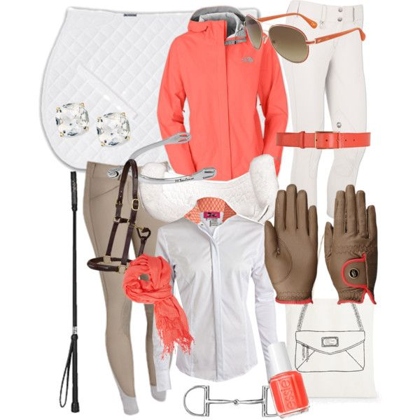 """Coral is Cool"" by lolakeene on Polyvore... Can I please have this jacket?!?! Maybe after I heal up I can ride again? :D"