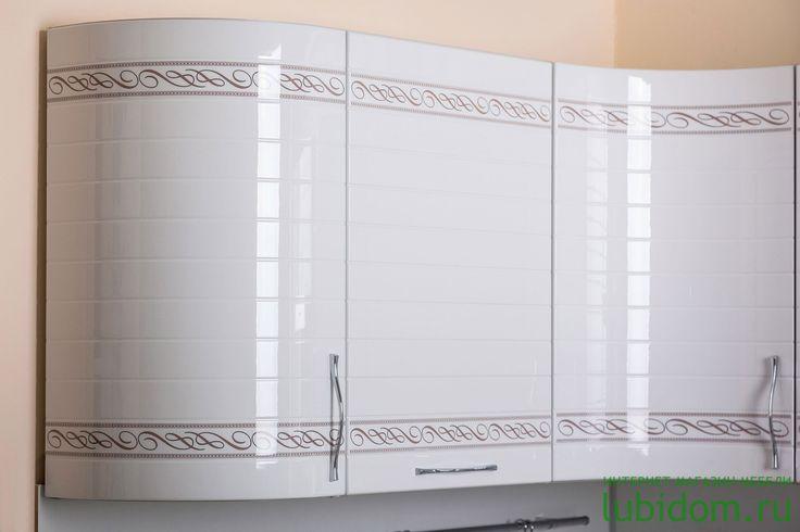 кухни «Анастасия» (тип 3, Шкафы в цвете «Белый глянец» с рисунком) от производителя | Серии модульной мебели для кухни. Подробнее: lubidom.ru