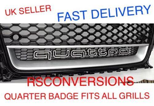 Audi #quattro #badge grill logo #emblem a3 a4 a5 a7 tt rs5 rs4 a1 q7 rs3 rs6 rs7 , View more on the LINK: http://www.zeppy.io/product/gb/2/121727385250/