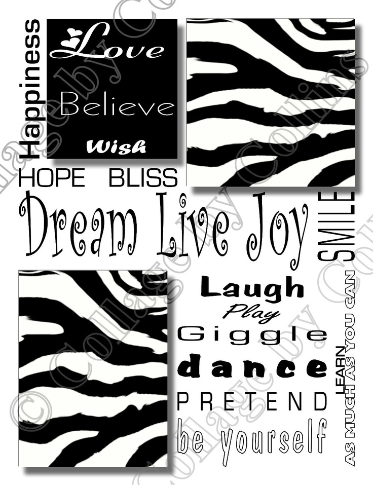 Zebra Design Print Girl Room Decor Wall Art Poster 10x13 Love Dream  Inspiration