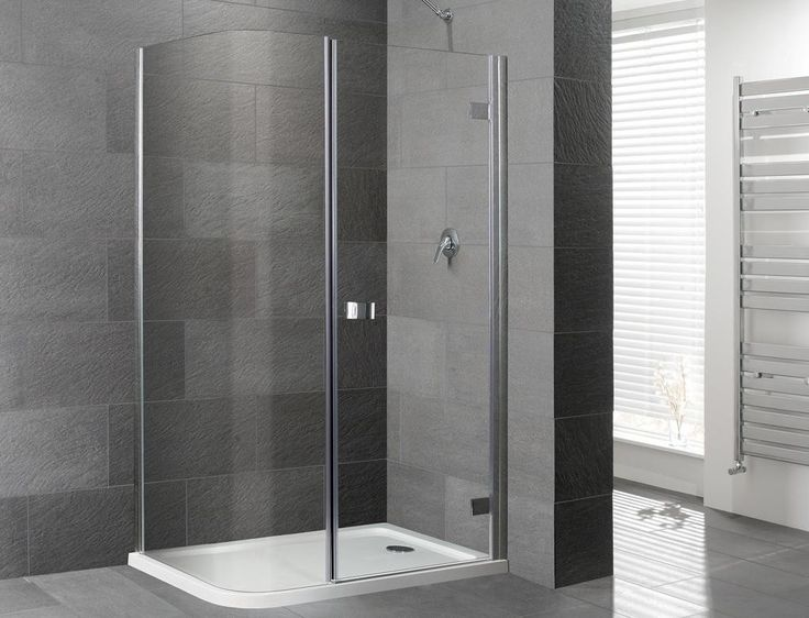 orca curved corner frameless shower enclosure inc tray