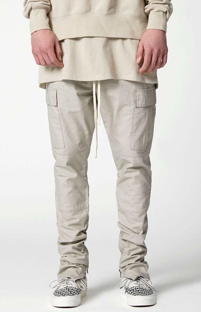 de255855 NWT Fear Of God FOG ESSENTIALS Drawstring CARGO Pants M Medium Silver Grey  FOG | eBay
