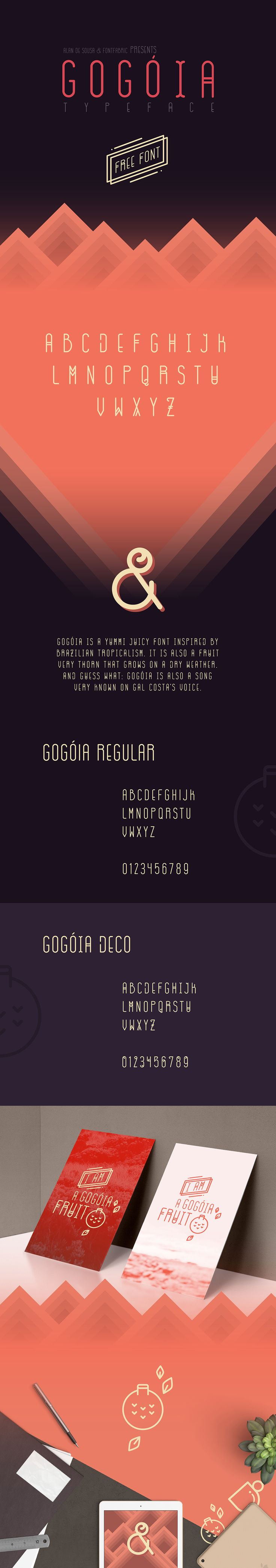 Gogoia is a yummi juicy free font inspired by brazilian tropicalism and designed by Alan de Sousa . It is also a very thorn fruit that grows on a dry ...