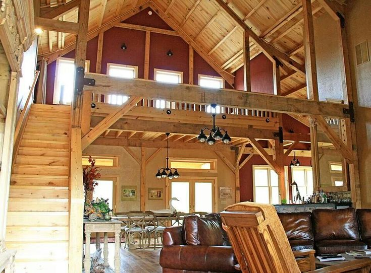 House design house interiors and loft on pinterest for Cheap barn style homes