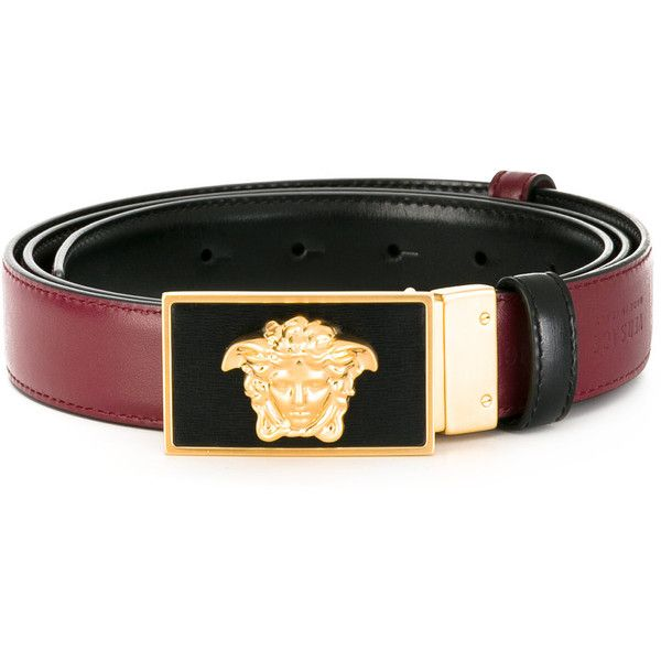 Versace reversible Medusa belt (460 CAD) ❤ liked on Polyvore featuring men's fashion, men's accessories, men's belts, men's reversible belt, mens adjustable belts and versace mens belt