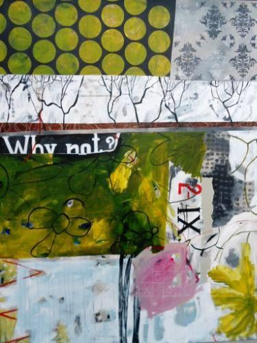 "Saatchi Art Artist RENATA KACOVA; Painting, ""WHY NOT?"" #art"