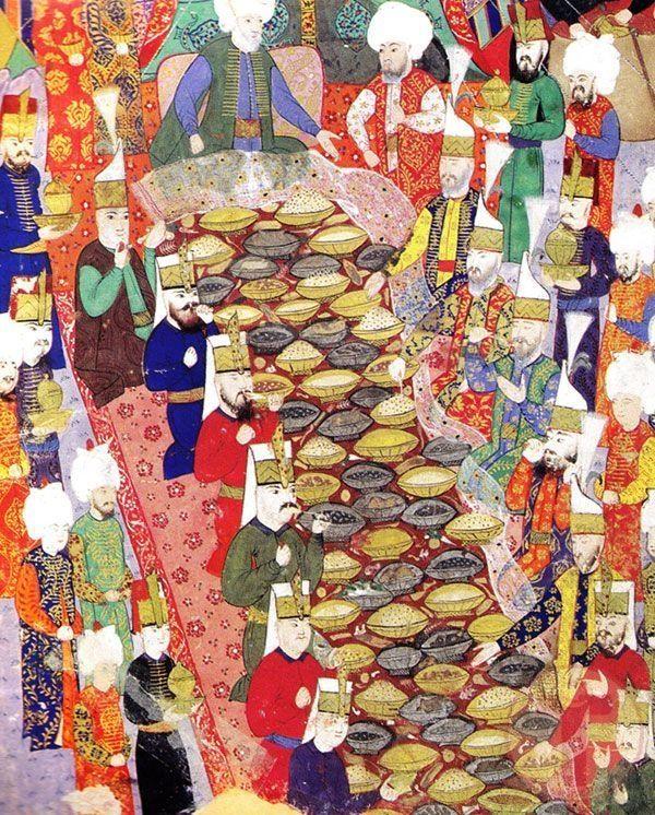 Padişah Tarafından Düzenlenmiş Bir Şölen | Islami sanat, Kitap sanatı, Çizimler