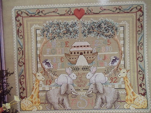 "Noah""s Ark Sampler Alma Lynne's Private Collection Counted Cross Stitch Pattern 
