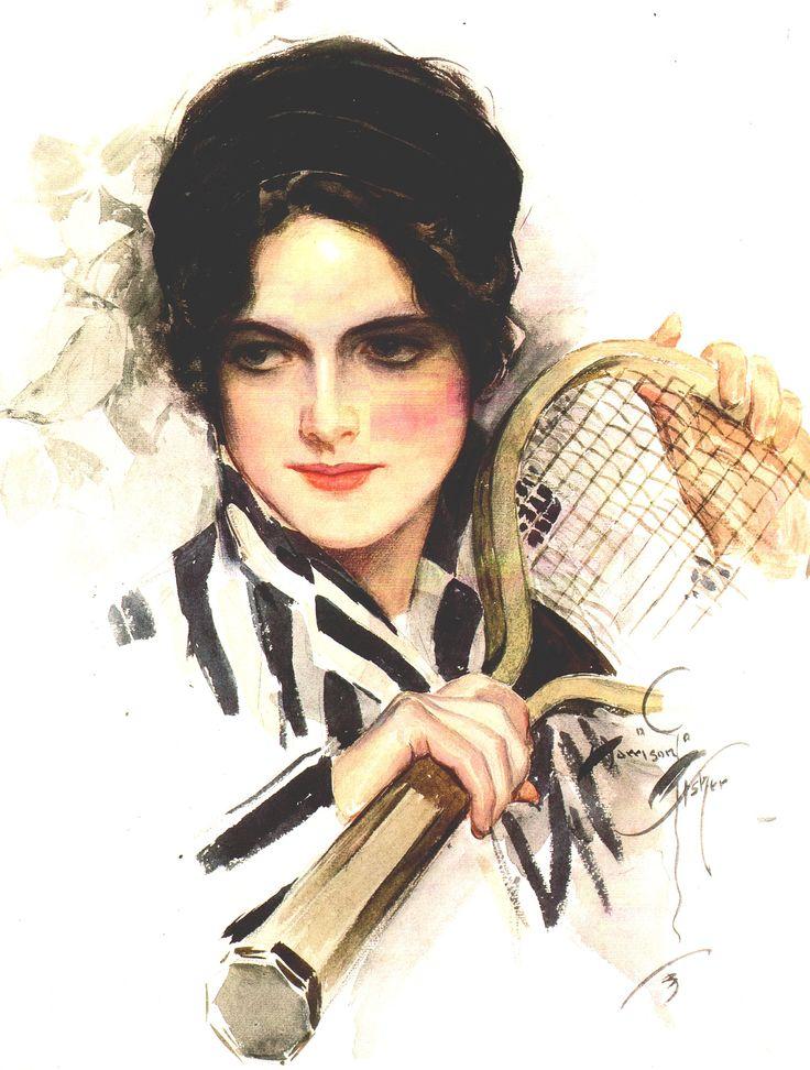 "Harrison Fisher (1875-1934) ""Tennis"":"