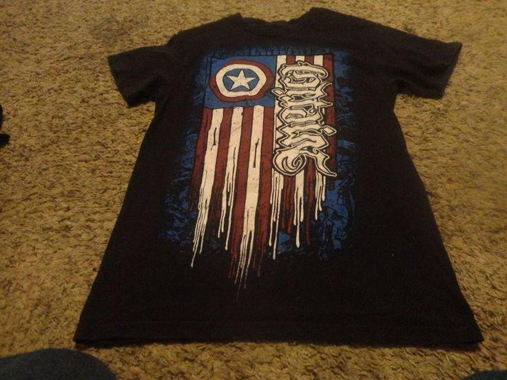 Mens Captin America Navy T Shirt Sz Small S Marvel #Marvel #GraphicTee