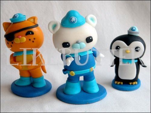 Edible Fondant Octonauts Inspired Cake Toppers octonauts ...