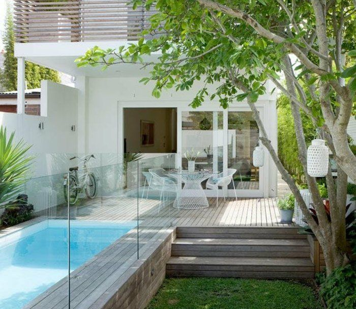 les 25 meilleures id es de la cat gorie petite piscine. Black Bedroom Furniture Sets. Home Design Ideas